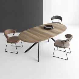 Tavolo Calligaris Bianco Allungabile.New York Side Chair Vintage In 2020 Glass Kitchen Tables