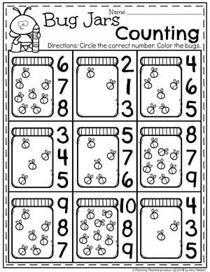 Spring Preschool Worksheets With Bugs Firefly Counting Preschool Bugs Bugworksheets Presc Preschool Bugs Crafts Preschool Math Worksheets Bugs Preschool