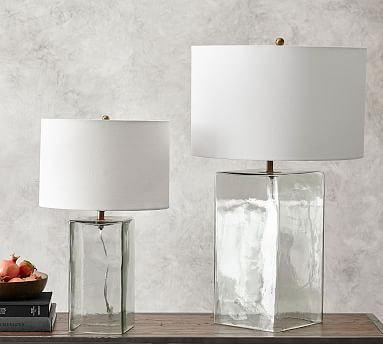 Blaine Recycled Glass Table Lamp Glass Table Lamp Table Lamp Wood Glass Table