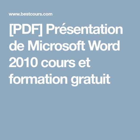 Les 25 meilleures idées de la catégorie Word 2010 pdf sur - degrees in microsoft word