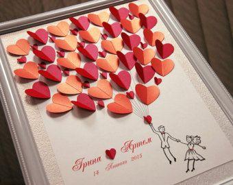 Wedding Guest Book Ideas Silver and Purple by WeddingUkraine