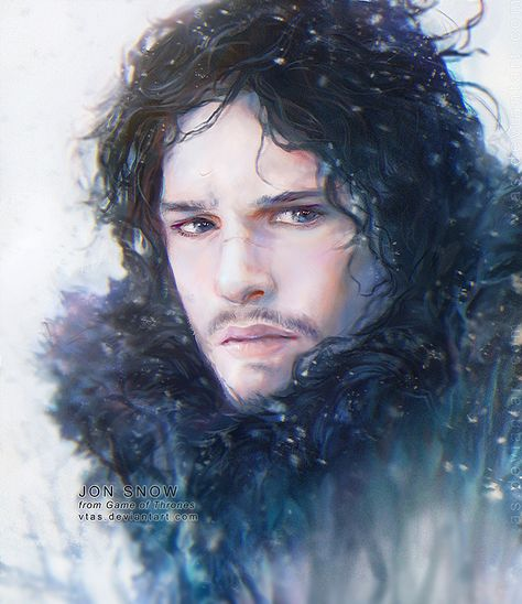 Another GoT fanart! Jon Snow is one of my favorite characters (and everyone wants to be him because he has a wolf. Guys, a wolf) Enjoy! You can find prints and more stuff from this art in my Societ...