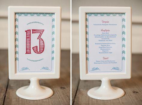 Ikea Bilderrahmen Tolsby als Tischkarte | Eine Seite mit einem Foto, andere Seite mit der Menükarte