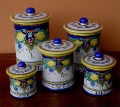 Image result for sets of canisters for sale, Deruta Italy ...
