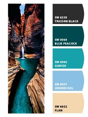 Sherman williams paint- peacock blue and surfer