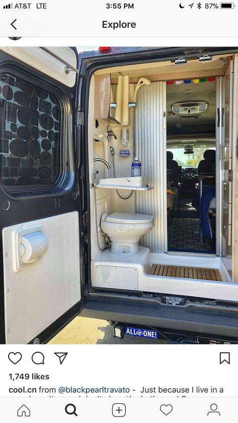 Details Toilette Et Douche Dans Le Coffre Fourgon Amenage