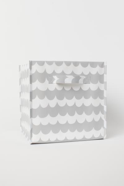 Caja De Almacenaje Storage Grey Pattern Artwork For Home