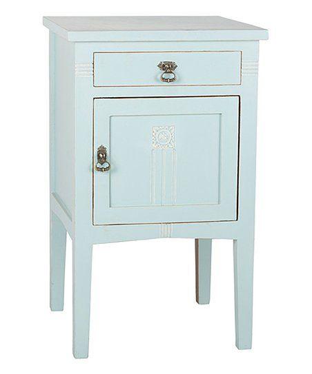 Porthos Home Aqua Saybrook One Door Nightstand Zulily Wooden Nightstand Drawer Nightstand Furniture