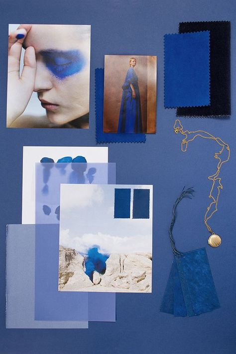 The March Mood Board - I am back with the monthly mood board series. And it's all about tone-on-tone palettes starting with the trending BLUE. boards de moda How to create a tone-on-tone color mood board? The Blue Series - Eclectic Trends