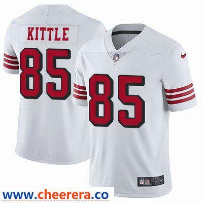 on sale 9163b 65af0 Nike San Francisco 49ers #85 George Kittle White Rush Men's ...