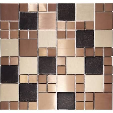 Metallic Tiles Kitchen Backsplash Google Search Copper Wall