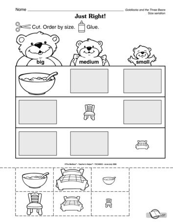 Just Right Lesson Plans The Mailbox Bear Activities Preschool Bears Preschool Goldilocks And The Three Bears