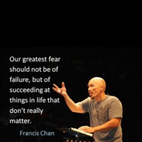 Success, failure, fear...
