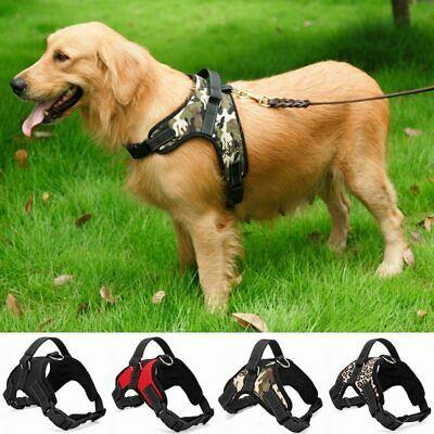 Details About No Pull Adjustable Dog Pet Harness Soft Walk