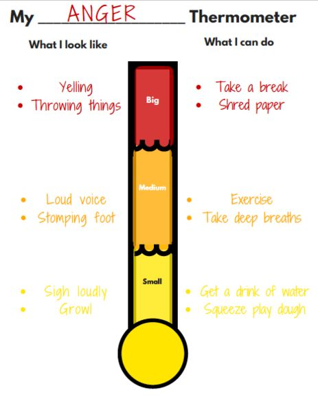 picture relating to Feelings Thermometer Printable identified as Pinterest