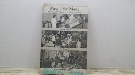Meals for Many for school for camp for by RandomGoodsBookRoom, $6.50