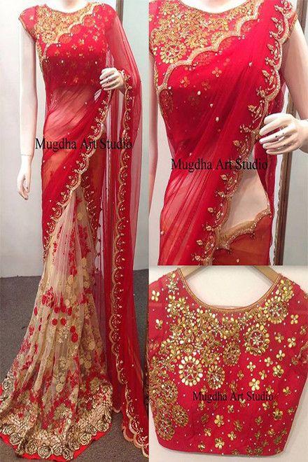 Georgette Sari Saree Indian Ethnic Designer Wedding Party Wear Lehenga Choli
