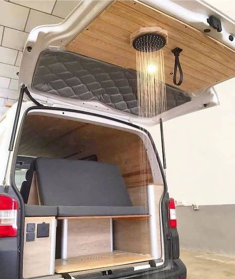 Van Conversion Interior, Camper Van Conversion Diy, Van Interior, Interior Plants, Bathroom Interior, Camper Interior, Interior Design, Diy Design, Camper Bathroom