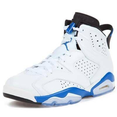 jordan retro 6 blue and white