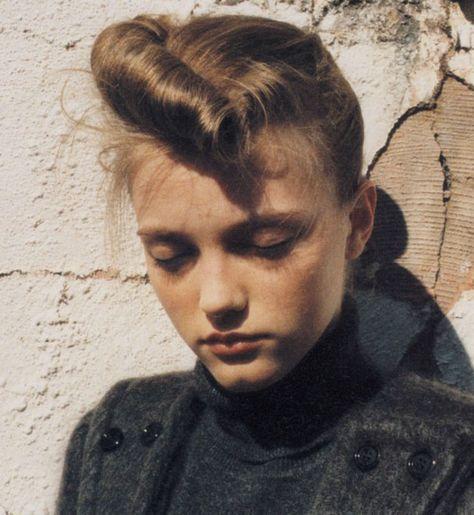 Vlada Roslyakova, hair