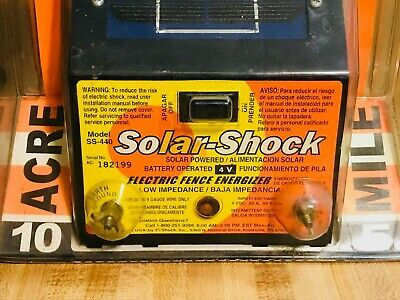 Solar Powered 5 Mile Medium Duty Electric Fence Energizer 4 Solar Shock In 2020 Electric Fence Energizer Solar Electric Fence Electric Fence