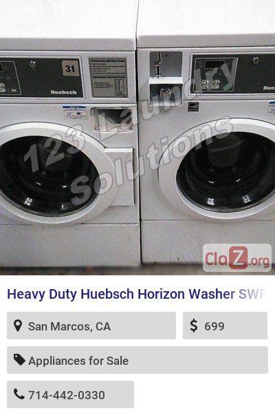 Heavy Duty Huebsch Horizon Washer Swfb71wn 120v 60hz 9 8amps Used