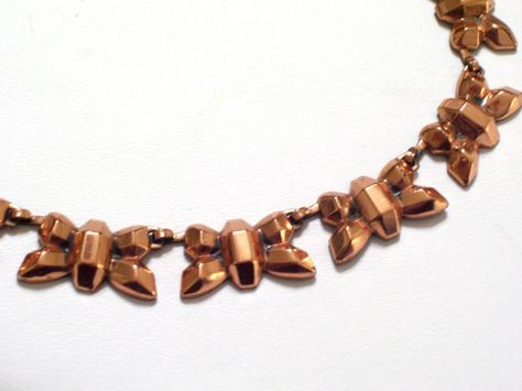 Rare Vintage Renoir Copper FIREFLY Modernist Link by TheCopperCat, $58.00