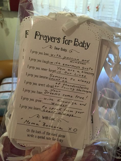 Prayers for Baby cards for Guests to fill out for Christening. Used to display on a Wishing Tree.