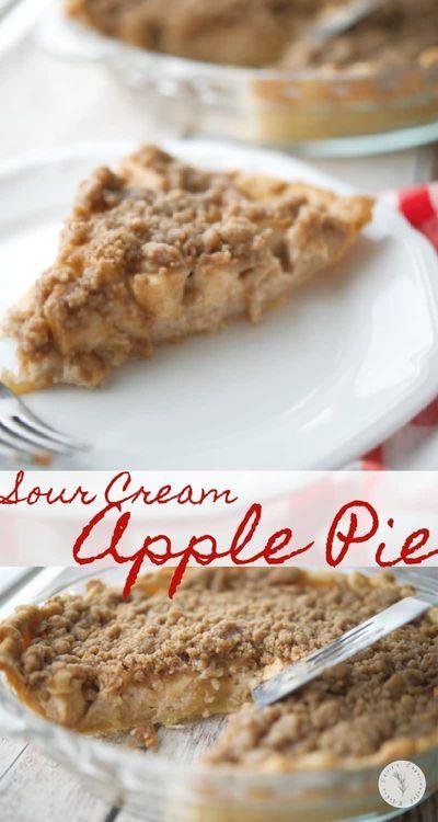 Sour Cream Apple Pie Recipe In 2020 Sour Cream Apple Pie Apple Recipes Sweet Treats Recipes