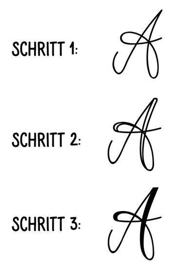 Kunst Mit Buchstaben Unsere Lettering Tipps Teil 1 Lettering