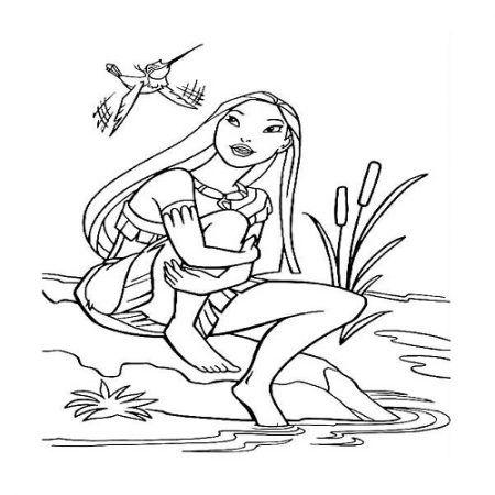 Pocahontas Ausmalbilder Disney Prinzessin Malvorlagen Ausmalbilder Malvorlage Prinzessin