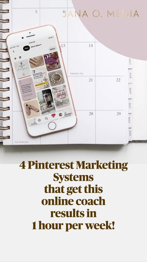 4 Pinterest Marketing Systems that get this online coach results in 1 hour per week!
