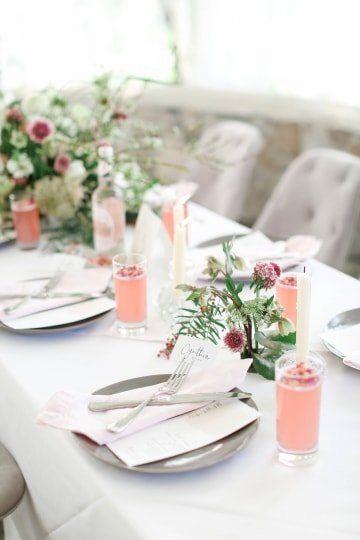 Garden Style Wedding Centerpiece With Greenery And Pink Flowers Morgan Raven Wedding Reception Tables Centerpieces Colorado Destination Wedding Ranch Wedding