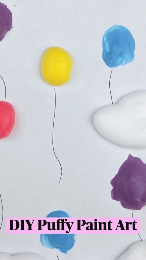 DIY Puffy Paint Art
