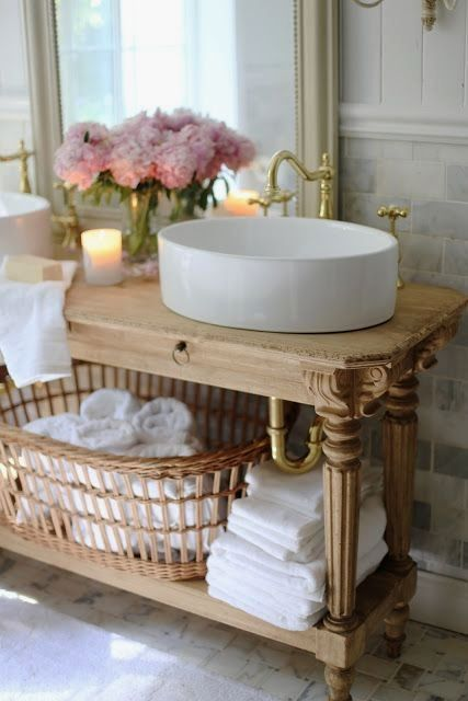 French Country Cottage Bathroom Renovation Reveal Custom Vanity