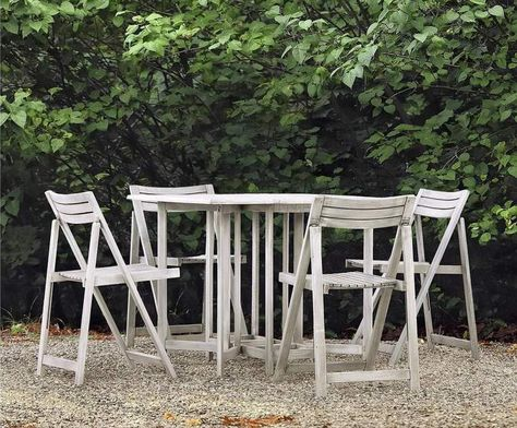 Sedie Legno Da Giardino.Set Da Giardino Tavolo 4 Sedie In Legno Shabby Melania Sedia