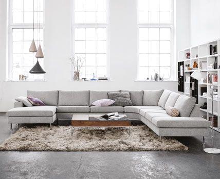 Indivi 2 Sofa In Mojave Light Grey Fabric Living Sofas And Fabrics