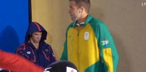 Cara enojada de Michael Phelps se vuelve viral...