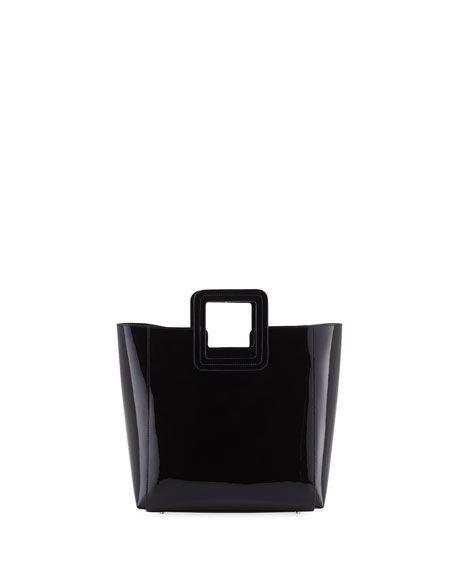 Staud Shirley Mini Patent Vinyl Tote Bag Designer Handbags On Sale Casual Bags Tote Bag