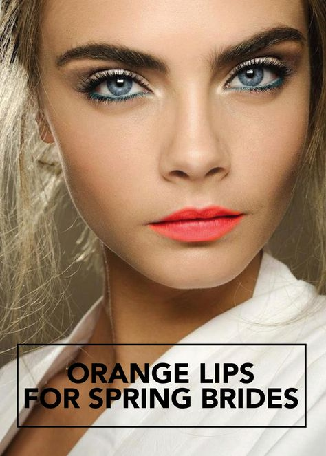 Some weekend makeup inspiration courtesy of Cara Delevingne. We LOVE her bright … Quelques inspirations de maquillage pour le week-end, offertes par Cara Delevingne.