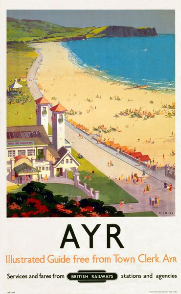 Photograph Ayr Br Poster 1948 1965 10 X8 Photo Print Made In The Usa In 2020 Travel Posters Tourism Poster Poster
