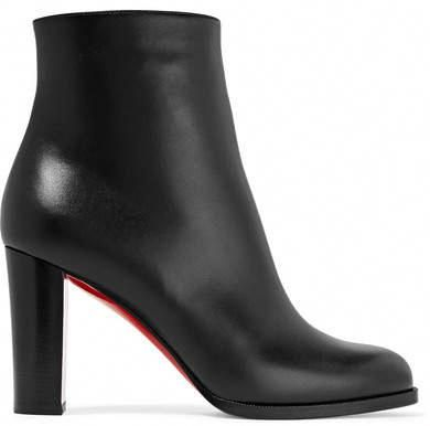 brand new 83d3b 6bbf4 Christian Louboutin Adox 85 Leather Ankle Boots - Black ...