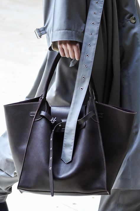 Here Are theBest Accessories from the Céline Fall 2017 Runway - OVERSIZED TOTE WITH BUCKLE from InStyle.com