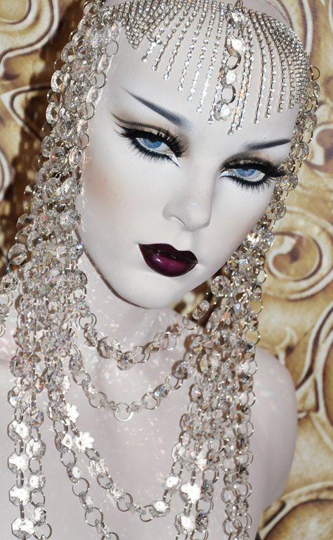 With this crystal goddess chandelier headdress I look like artwork.