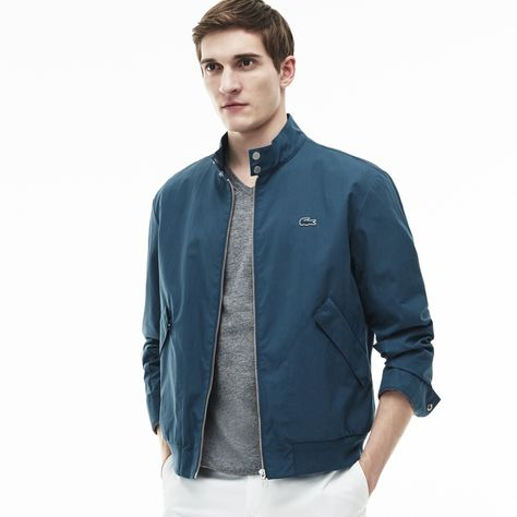 Lacoste Mens Lightweight Harrington Cotton Twill Jacket Cotton Lightweight Jacket