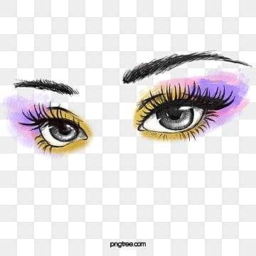 Hand Painted Makeup Powder Eye Shadow Eyes Clipart Black And White Hand Painted Doodling Png Transparent Clipart Image And Psd File For Free Download In 2021 Eye Lash Illustration Powder Makeup
