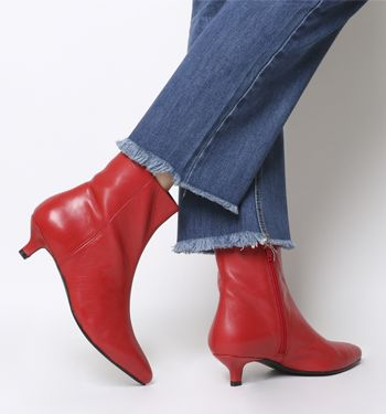 VagabondMinna HeelsRed Mid Mid LeatherShoes VagabondMinna HeelsRed BoexWdrCQ