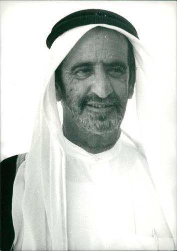 Vintage Photo Of Sheikh Rashid Bin Said Al Maktoum Dandanfaz3 ใน