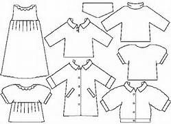 Paper Doll Template  Paper Doll Pattern Applique Needle BookDiy