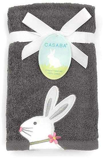 Amazon Com Casaba Embroidered Easter Bunny In Floral Necklace